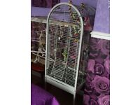 Large open top parrot cage like new