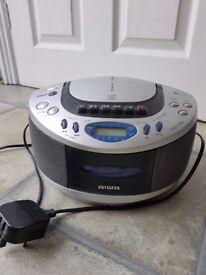 Aiwa Portable CD Player with Radio Cassette & Headphone Jack