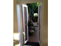 White uPVC French Window - 2100 mm high 970 mm wide. Excellent condition