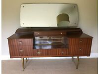 Vintage 1950's Kitsch Teak Dressing Table