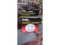 DICON Mains Powered Smoke Alarm with 9V Battery back up