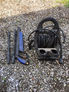 Pressure washer hose and reel