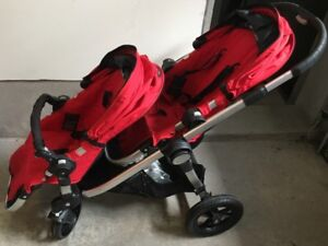 Red HOT City Select Baby Jogger Double Stroller for Sale