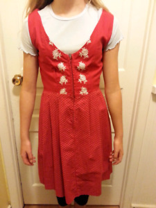 Extra-Small Red Dirndle- Made in Waterloo - vintage