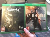 Battlefield one and fallout 4