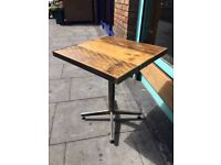 Solid wood&steel square table