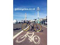 Special Offer GOKU CYCLES Steel Frame Single speed road bike TRACK bike fixed gear BIKE g6y