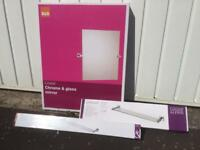 Cooke & Lewis Linear Bathroom Mirror/ Shelf / Double Towel Rail - Never Used