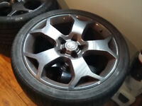 Vauxhall Vectra 5 Stud 19 inch Snowflake Alloys and Tyres
