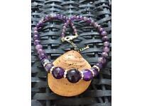 Handmade stunning amethyst stone necklace