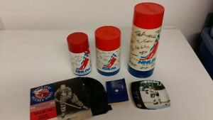 1974 NHLPA THERMOS with facsimile  autographs nhl hockey