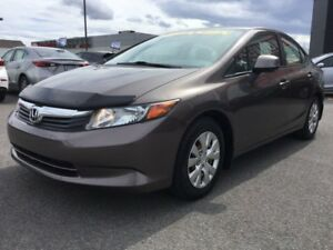 2012 Honda Civic Sdn LX, BLUETOOTH, RÉGULATEUR DE VITESSE, A/C
