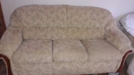 3 Piece Suite - 3 Seater Sofa & 2 Reclining Chairs