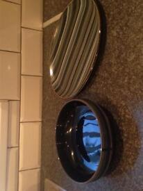 Denby fruit bowl & platter plate