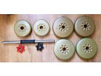 York Dumbbell Barbell Set 11.4 KG - 4 x 2.3 Kg 2 x 1.1 KG