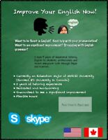 Improve Your English Now! *Skype* PRIVATE ENGLISH TUTOR