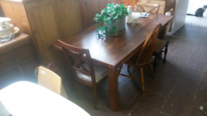 """RURAL ROOTS DECOR SHOP: 84""""x 42"""" Harvest table and other tables"""