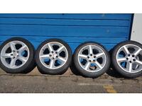 Vauxhall Genuine 17 SRI alloy wheels + 4 x tyres 225 45 17 Zafira,Astra,Vectra