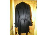DKNY Black Coat with Belt DKNY Jacket