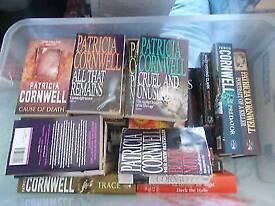 JOB LOT OF 34 THRILLER CRIME FICTION BOOKS