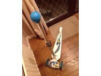Boys Zinc Scooter Blue and White used once like new £10 Portadown