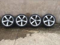 Genuine Audi TTRS Black Edition Alloy wheels