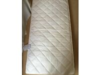 NEARLY NEW MAMAS & PAPAS COTBED MATTRESS- LUXURY POCKET SPRUNG