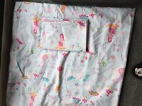 Unicorn double duvet set including curtains and the backs