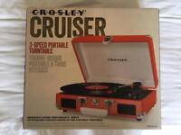 Crosley Turntable (Orange) 3-Speed Portable Cruiser
