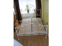 CAN DELIVER - BEAUTIFUL 5ft KING SIZE BED FRAME IN VERY GOOD CONDITION