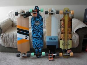 """NEW"" Longboards from Nice Skateboard Co. 4 - models Visa, M/C"