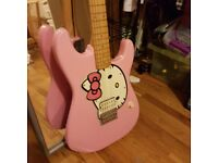 Fender Squier | Pink Hello Kitty + Marshall Amp - rare