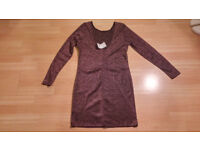 New with Tag - Long Sleeved Sparkly Pink H&M Dress - Size L - Wedding Festival Disco Dress