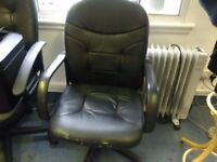 Free Black Faux Leather Office Chairs