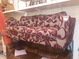 Three seater sofa (from Cambridge Re-use, a Charity Organisation)