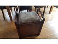 Wooden Piano Stool & Storage Box