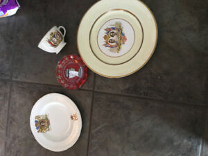 Coronation and silver jubilee plates