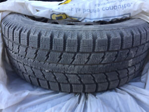 Very lightly used TOYO winter tires with rims