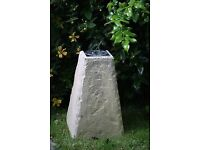 A beautiful sundial on a lovely sandstone staddle stone base £40