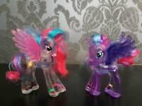 RARE My Little Pony water figures - princess celestia & princess luna
