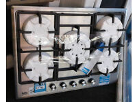U104 stainless steel beko 5 burner gas hob new graded with 12 month warranty can be delivered