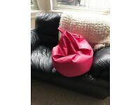 Pink Bean Bag - Condition as new