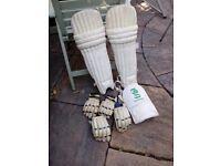 Assorted cricket gear.