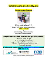 Research Study: Parkinson's Disease, Caffeine & Smell