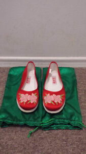 Red Authentic Asian Slippers