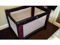 Mamas and Papas travel cot plus mattress - ideal for little ones stopping at the Grand parents :0)
