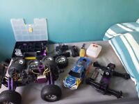 HPI savage x RC car and spare parts