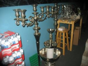 silver candle arbours and a silver wine fountian
