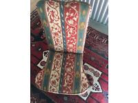 Beautiful Patterned Fabric Upholstered Chair