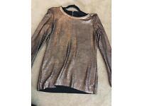 Coast copper shiny jumper
